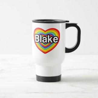 Jag älskar Blake: regnbågehjärta Rostfritt Stål Resemugg