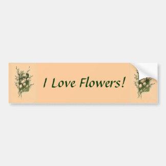 Jag älskar blommor! Bildekal
