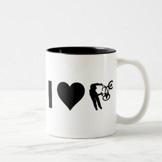 Jag älskar BMX Två-Tonad Mugg