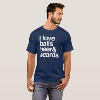 Jag älskar bollar, öl & Beards. T Shirt