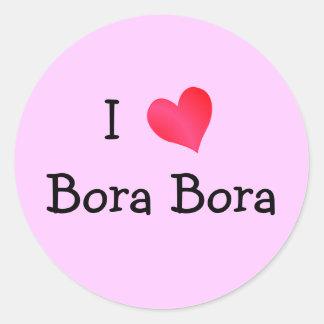 Jag älskar Bora Bora Runt Klistermärke