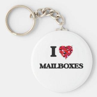 Jag älskar brevlådor rund nyckelring