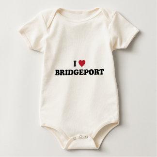 Jag älskar Bridgeport Connecticut Krypdräkt