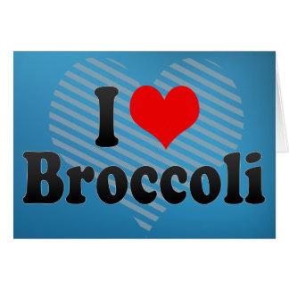 Jag älskar broccoli hälsningskort