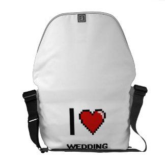 Jag älskar bröllopfotografer kurir väskor