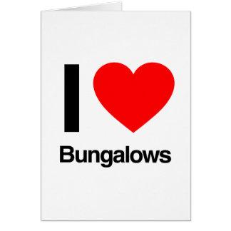jag älskar bungalower hälsningskort