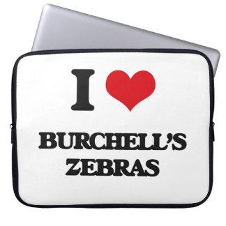 Jag älskar Burchells zebror Datorfodral