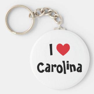 Jag älskar Carolina Keychain Rund Nyckelring