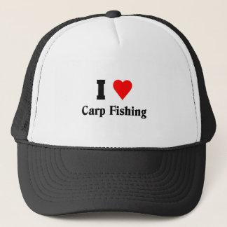 Jag älskar Carpfiske Truckerkeps