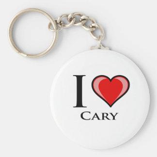 Jag älskar Cary Rund Nyckelring