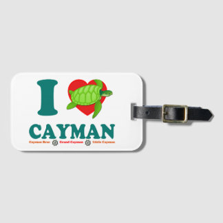 Jag älskar caymanen bagagebricka