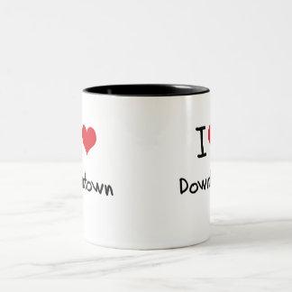 Jag älskar centra kaffe koppar