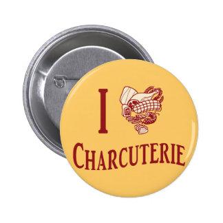 Jag älskar charkuteri standard knapp rund 5.7 cm