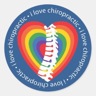 Jag älskar Chiropracticklistermärkear Runt Klistermärke