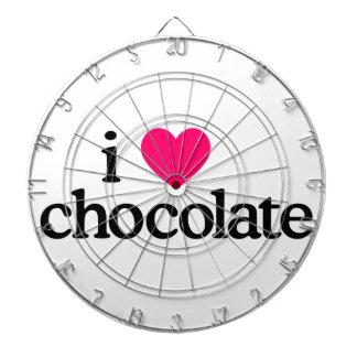 Jag älskar choklad darttavla