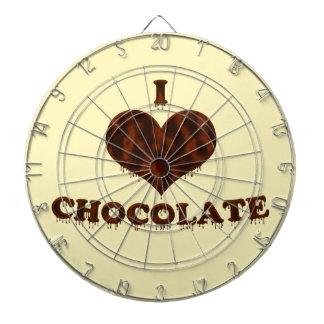 Jag älskar choklad piltavla
