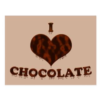 Jag älskar choklad vykort