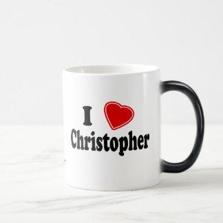 Jag älskar Christopher Magisk Mugg
