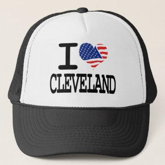 Jag älskar Cleveland Truckerkeps