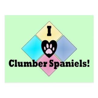 Jag älskar Clumber Spaniels Vykort