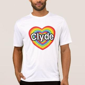 Jag älskar Clyde: regnbågehjärta T-shirt