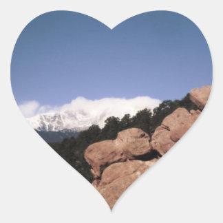 Jag älskar Colorado Hjärtformat Klistermärke
