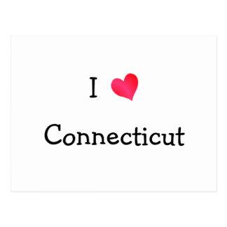 Jag älskar Connecticut Vykort