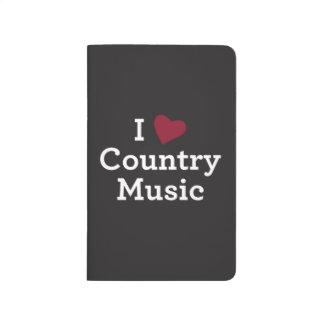 Jag älskar countrymusik anteckningsbok
