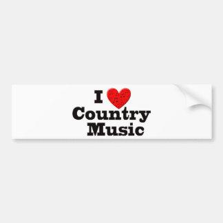 Jag älskar countrymusik bildekal
