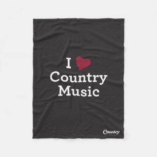 Jag älskar countrymusik fleecefilt