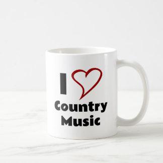 Jag älskar countrymusik kaffemugg