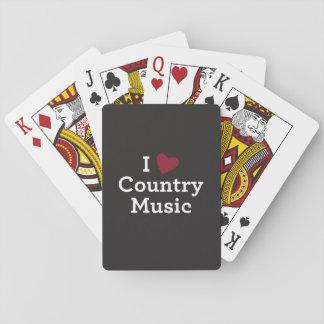 Jag älskar countrymusik spelkort