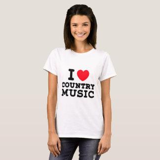 Jag älskar countrymusik t-shirt