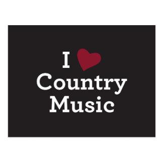 Jag älskar countrymusik vykort