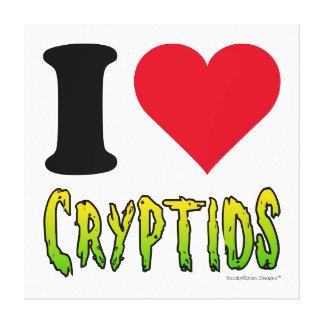 Jag älskar Cryptids Canvastryck