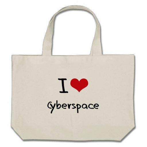 Jag älskar Cyberspace Tote Bags