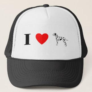Jag älskar Dalmatians Truckerkeps