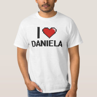 Jag älskar Daniela Digital den Retro designen Tröja