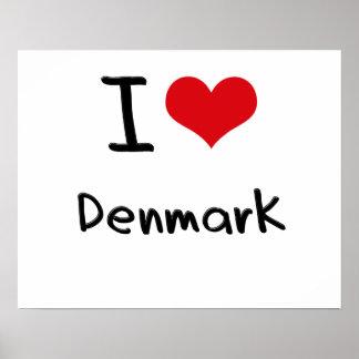 Jag älskar Danmark Print