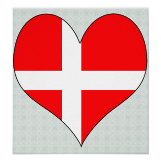 Jag älskar Danmark Posters