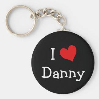 Jag älskar Danny Rund Nyckelring