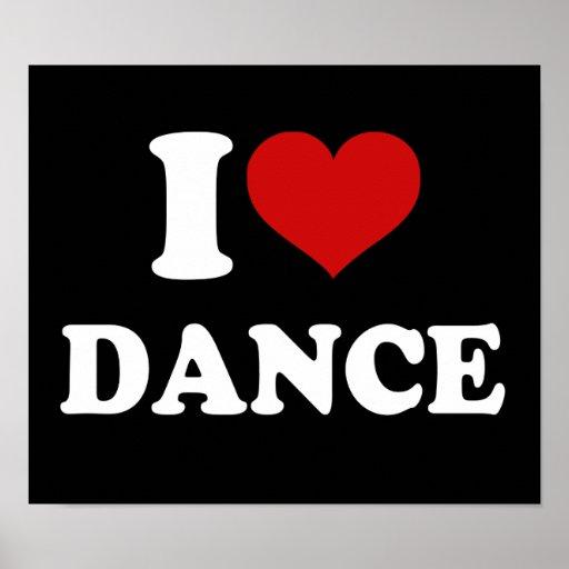 Jag älskar dans print