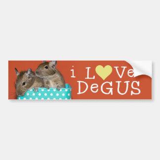 Jag älskar Degus Bildekal