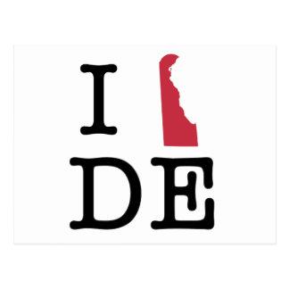 Jag älskar Delaware Vykort