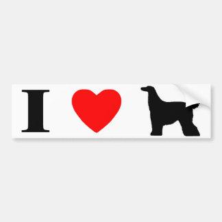 Jag älskar den afghanska hundbildekalet bildekal