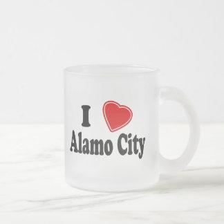 Jag älskar den Alamo staden Frostad Glasmugg