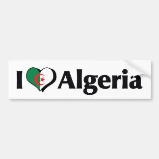 Jag älskar den Algeriet flagga Bildekal