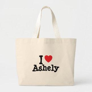 Jag älskar den Ashely hjärtaT-tröja Tote Bags