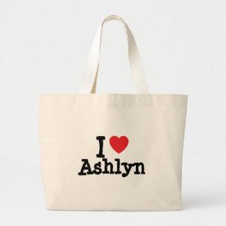 Jag älskar den Ashlyn hjärtaT-tröja Tote Bag