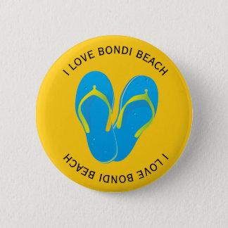 Jag älskar den Bondi stranden Standard Knapp Rund 5.7 Cm